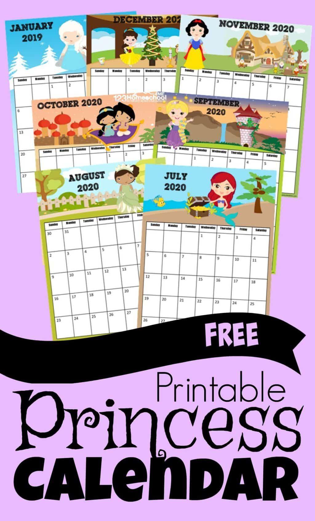 Princess Calendar