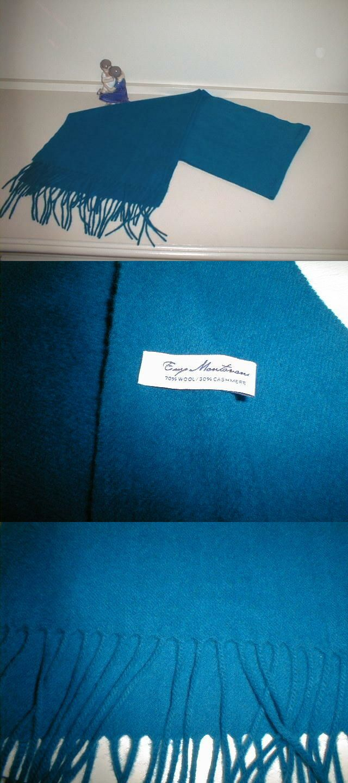 NWT ENZO MANTOVANI Black Cashmere Wool Blend Fashion Scarf