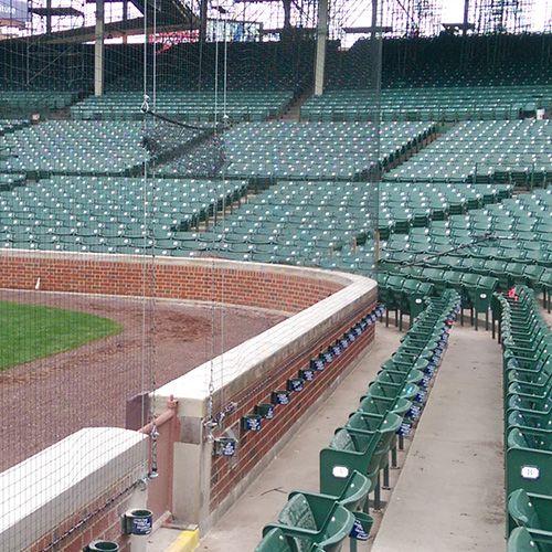 Ultra Cross Braided Dyneema Netting Promats Athletics Wrigley Field Baseball System