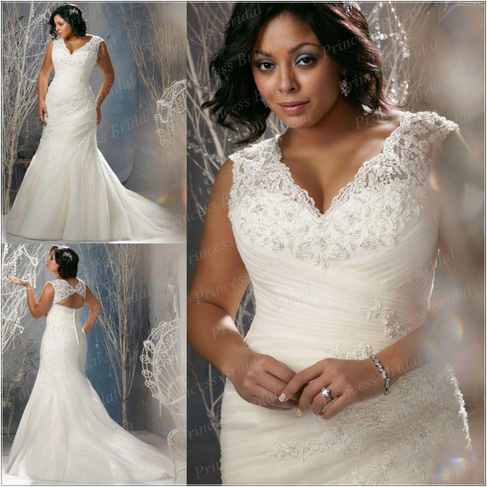 Plus Size Wedding Dresses Free Shipping Bangkok Style Trumpet V Neck ...