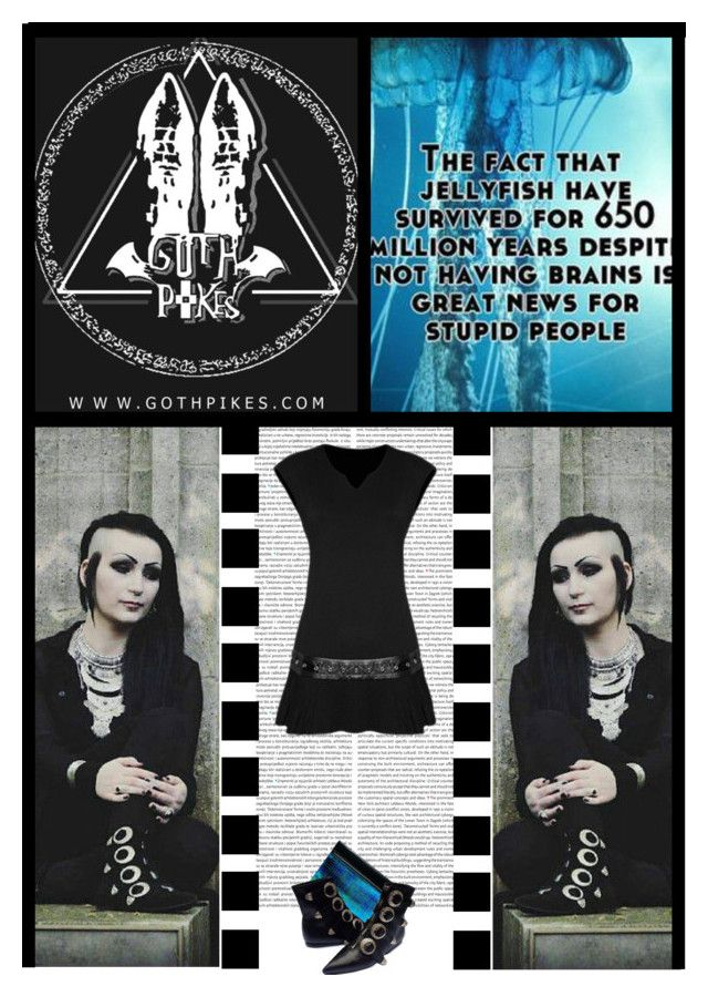"""""""Goth Pikes (31)"""" by irresistible-livingdeadgirl ❤ liked on Polyvore featuring ASOS, black, emo, goth, bands and gothic"""