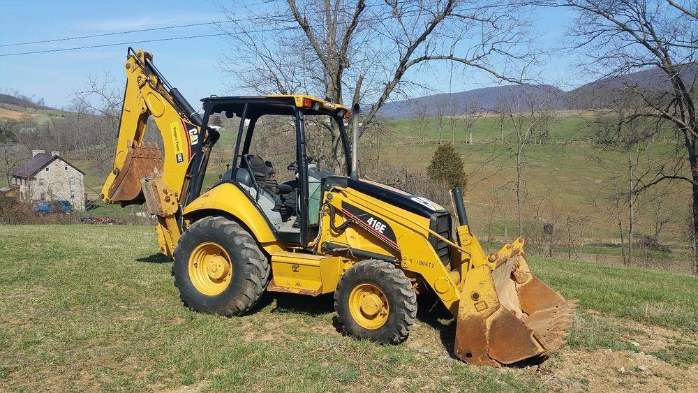 2006 Caterpillar 416E Backhoe Loader Hoe 4x4 Construction