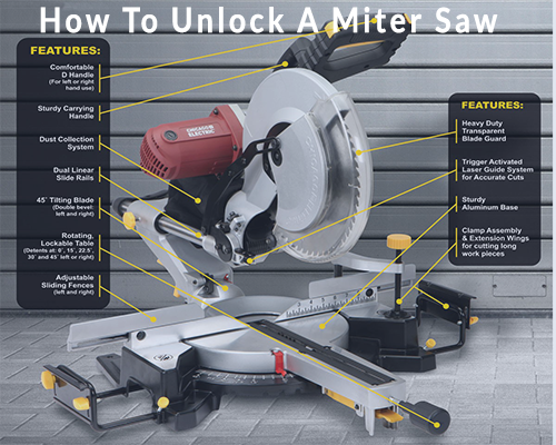 How To Unlock A Miter Saw Sliding Compound Miter Saw Miter Saw Table Saw