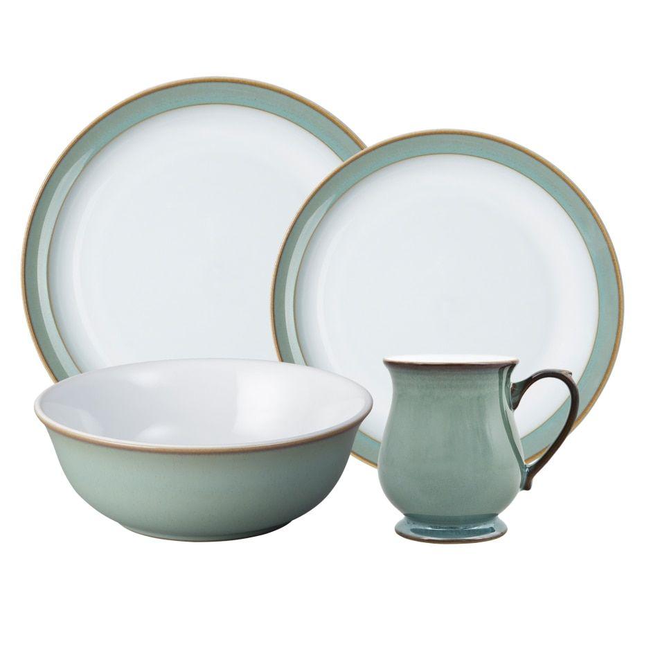 Regency Green 16 Pc Set Green Dinnerware Stoneware Dinnerware Sets Ceramic Dinnerware Set