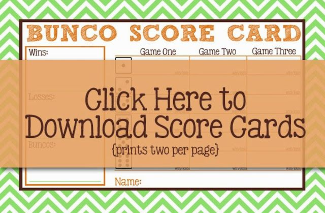 Free Bunco Printables Easy, Recipes and Foods - bunco score sheets template