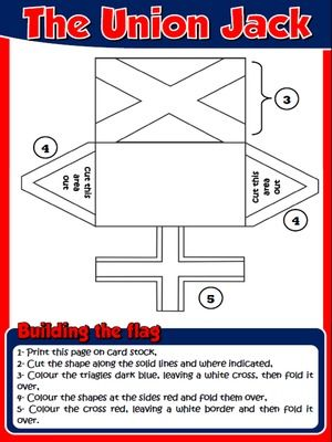 The Union Jack  Arts  Crafts Activity  THE UNITED KINGDOM PACK