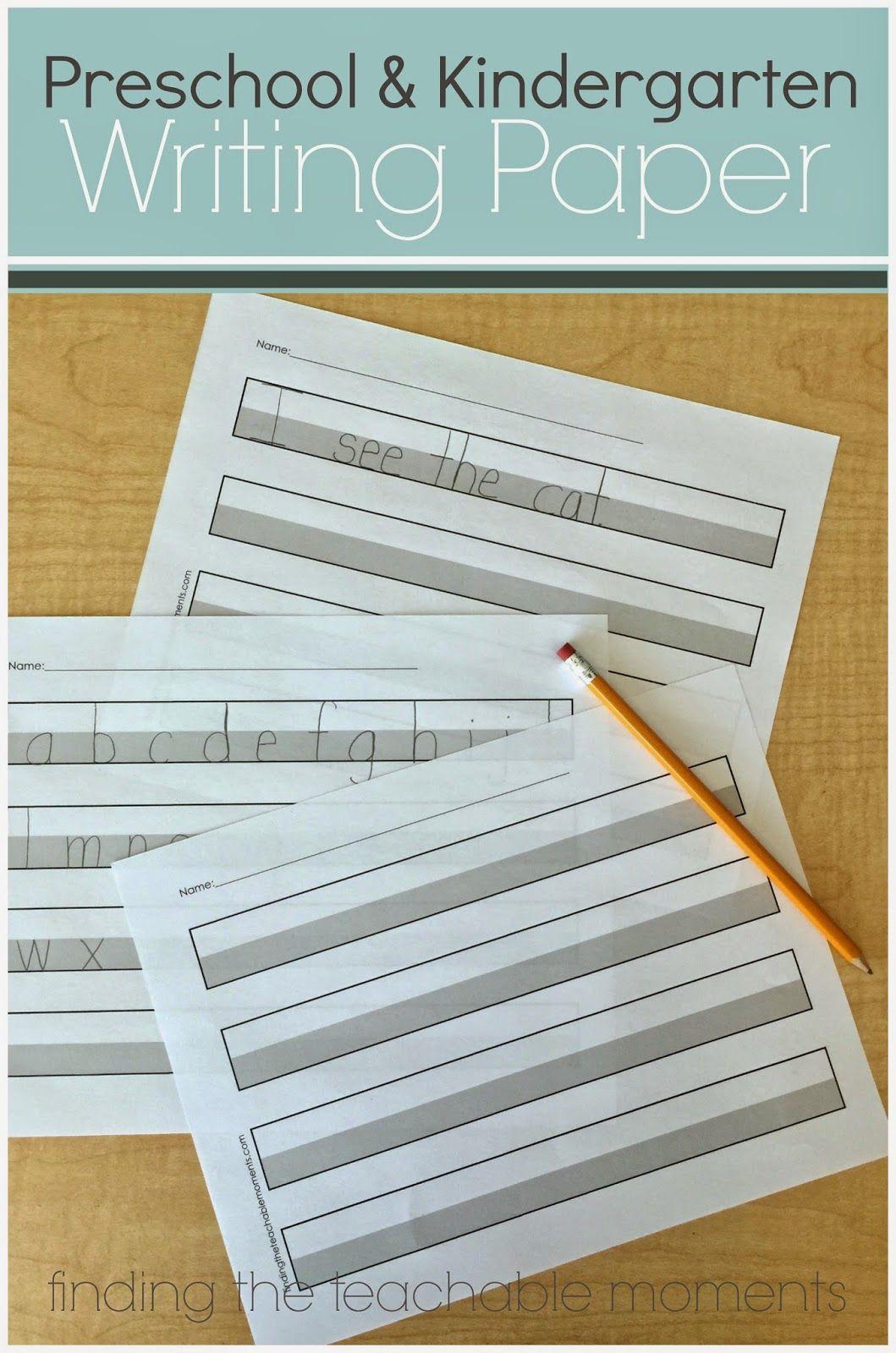 Preschool And Kindergarten Writing Paper