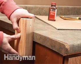 Laminate Repair Tips Reglue Loose Laminate Laminate Laminate Countertops Repair