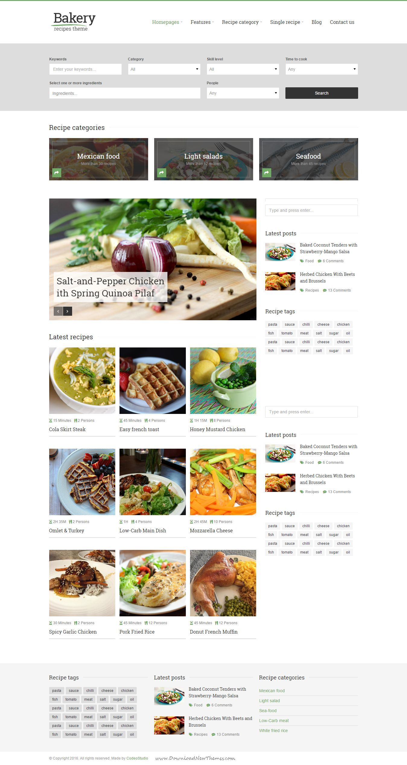 Bakery responsive recipes html template pinterest bakeries and bakery responsive recipes html template for food recipe and culinary website webdesign forumfinder Gallery