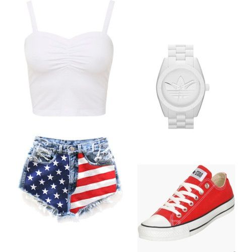 I want this outfit. It is perfect for Forth Of July.