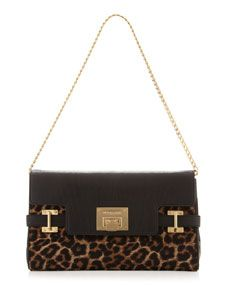 d83d19bb7ec2e3 MICHAEL Michael Kors Extra-Large Astrid Calf-Hair Clutch Bag ...