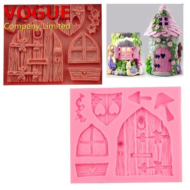 2016 Nouveau Dessin Animé 3D Art Fée Maison En Bois Portes Fenêtres - dessiner une maison en 3d
