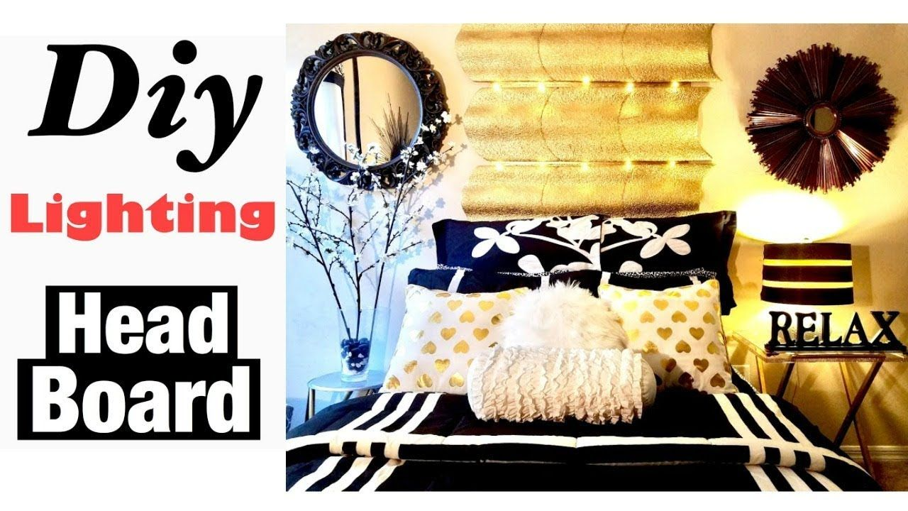 DIY Room Decor Wall Art HeadBoard Using Dollar Store Items ...