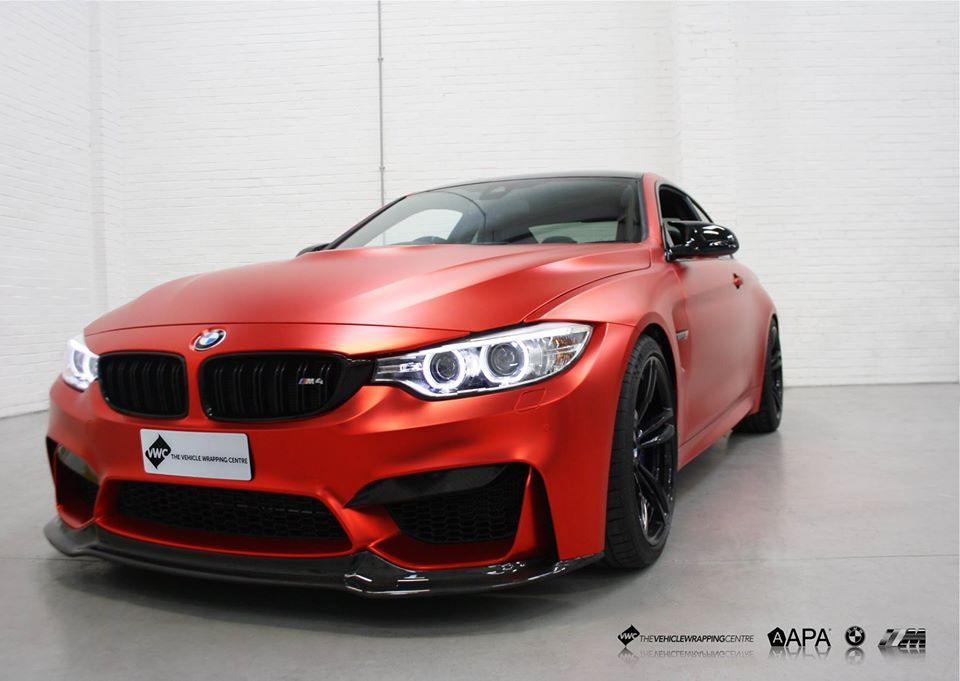Bmw M4 Apa Satin Red Chrome Personal Vehicle Wrap Project Bmw