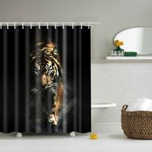 3D Tiger douchegordijn rideau de douche 3d cortina nl tissu ...