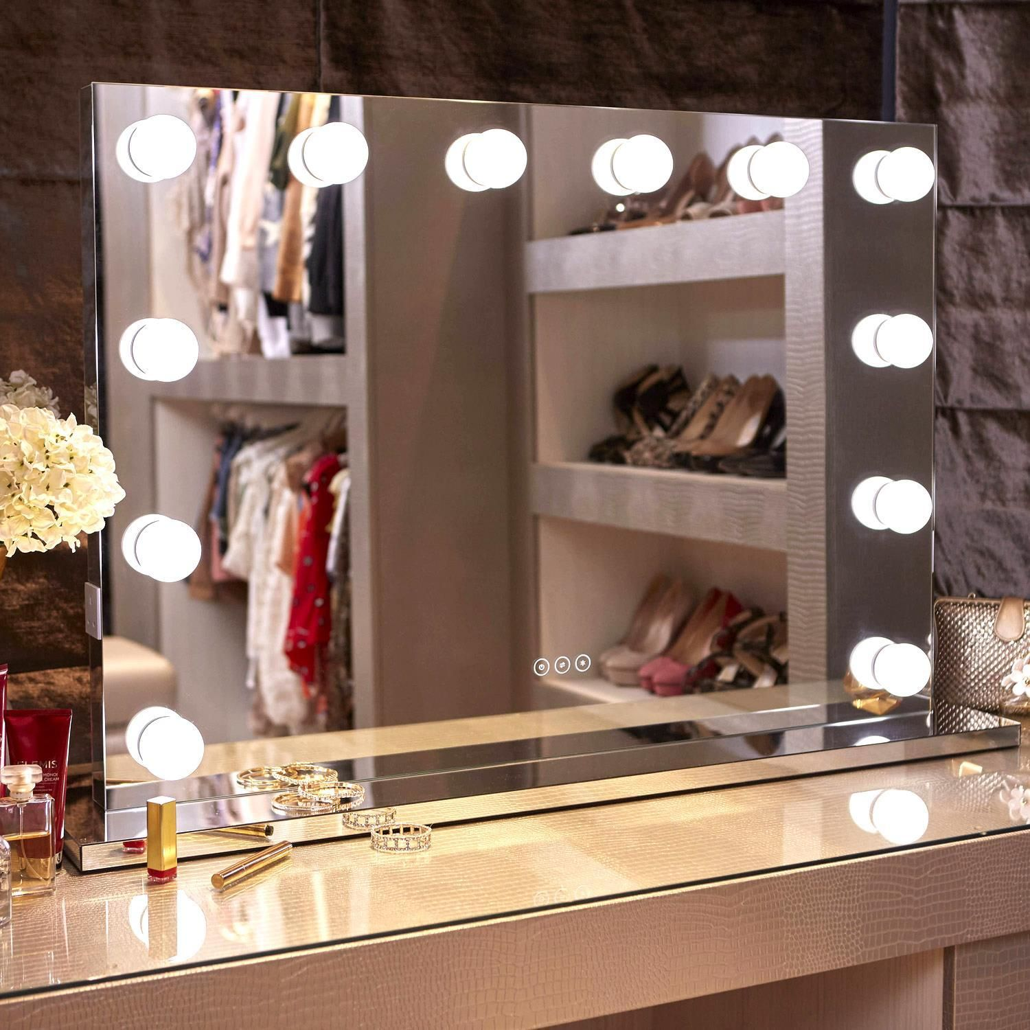 Whitney Audio Hollywood Mirror with LED Lights - 70x100cm