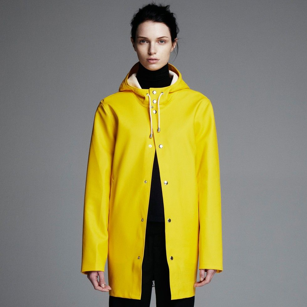 stutterheim, stockohlm, yellow, raincoat, rainwear, regnjacka ...