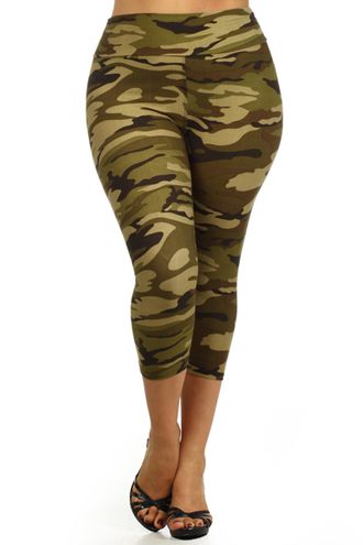Camo Capri Leggings (Plus Size) | CAMO | Pinterest | Best Capri ...