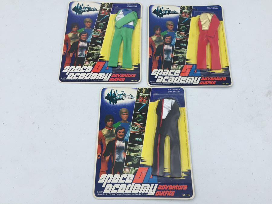 Space Academy Adventure Outifits New On Card Vintage 1977