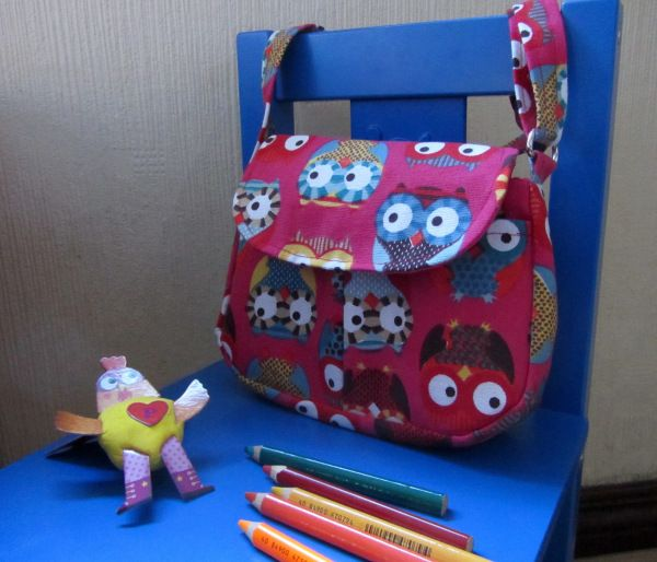 Tutoriel du sac bandouli re pour enfant petites chouettes sac besace et besace - Tuto pochette bandouliere ...