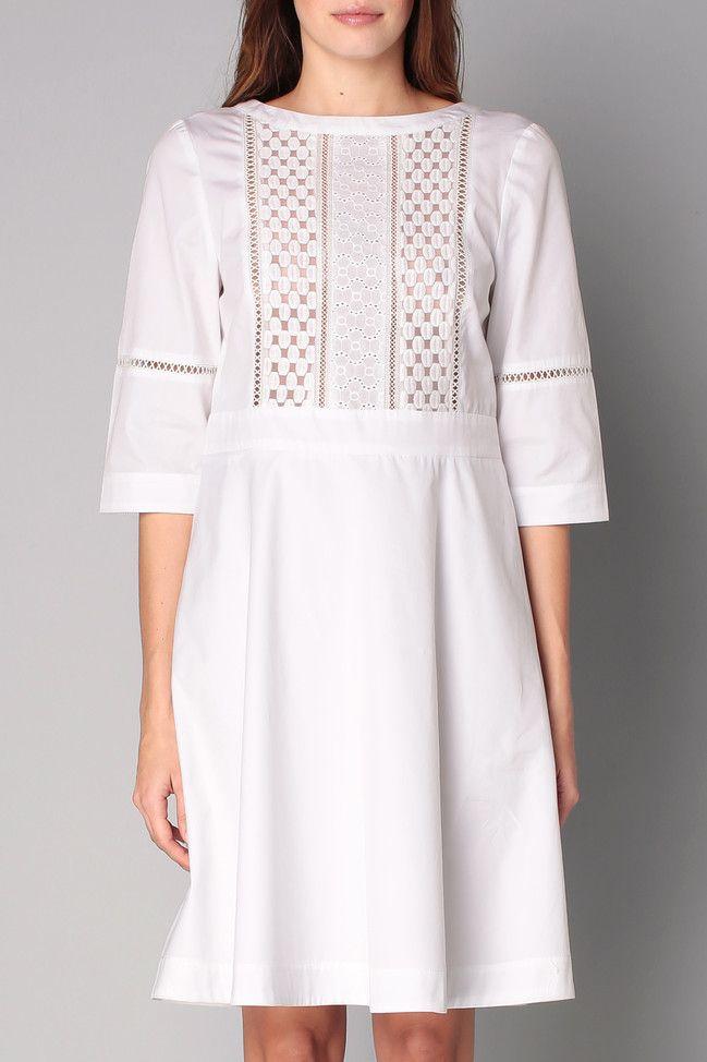 5a479800a5 Robe blanche broderie anglaise - Tara Jarmon … | vêt broderie | Robe ...