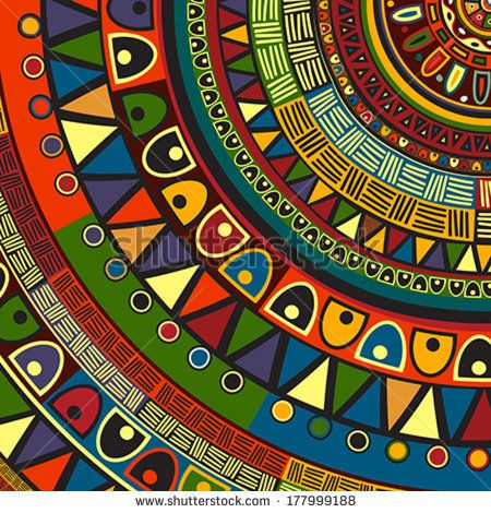 Colored Tribal Design Abstract Art African Pinterest Art Beauteous African Tribal Patterns