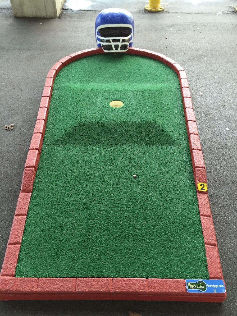 Football Themed Portable Mini Golf Course & Tent Rentals