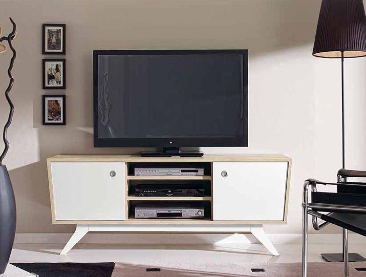 mueble tv retro roger material tablero de microparticulas mueble realizado en melamina y patas realizas