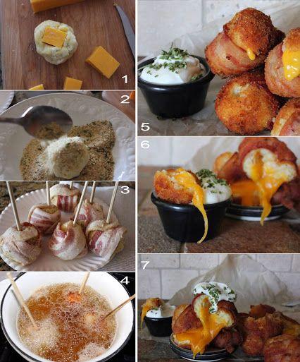 Mashed Potato Bacon Ball