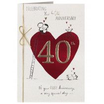 40th wedding anniversary cards