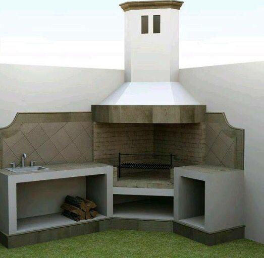 Asador our home pinterest asador terrazas y parrilla for 10 modelos de parrilla para tu casa