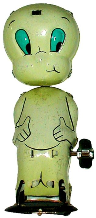 Casper the Friendly Ghost tin wind-up toy by Linemar (1960s)