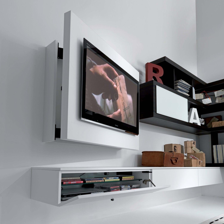 Rack Tv Möbel Hängend Schwenkbar Und Zu öffnen
