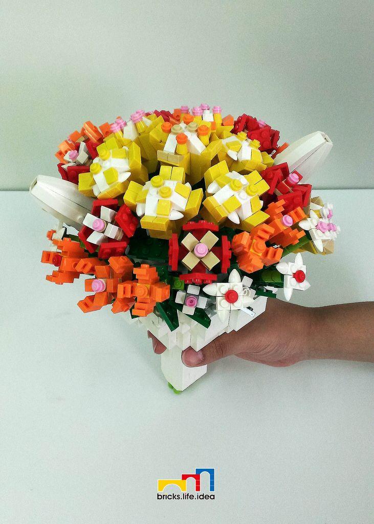 Bouquet lego flower lego creations legos
