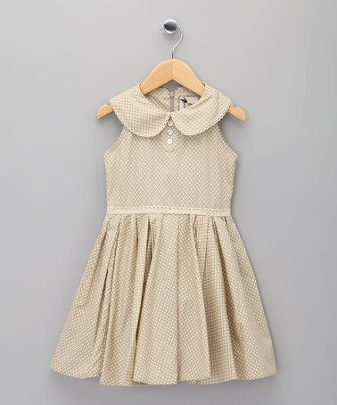 beige print hepburn dress infant girls by la faute voltaire kiddo style pinterest. Black Bedroom Furniture Sets. Home Design Ideas