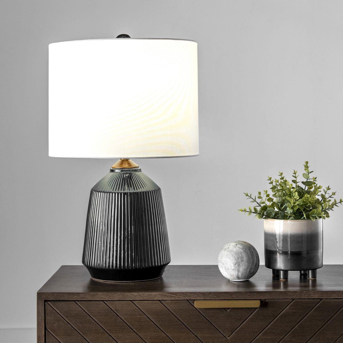 Alva 24 Inch Bridget Ceramic Table Lamp Black Lamp In 2020 Ceramic Table Lamps Ceramic Table Lamp