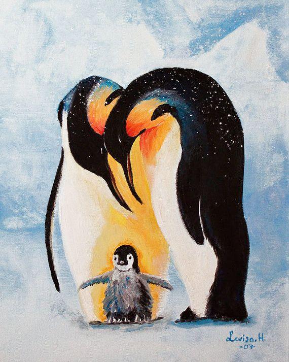 Картинки рисование пингвинов