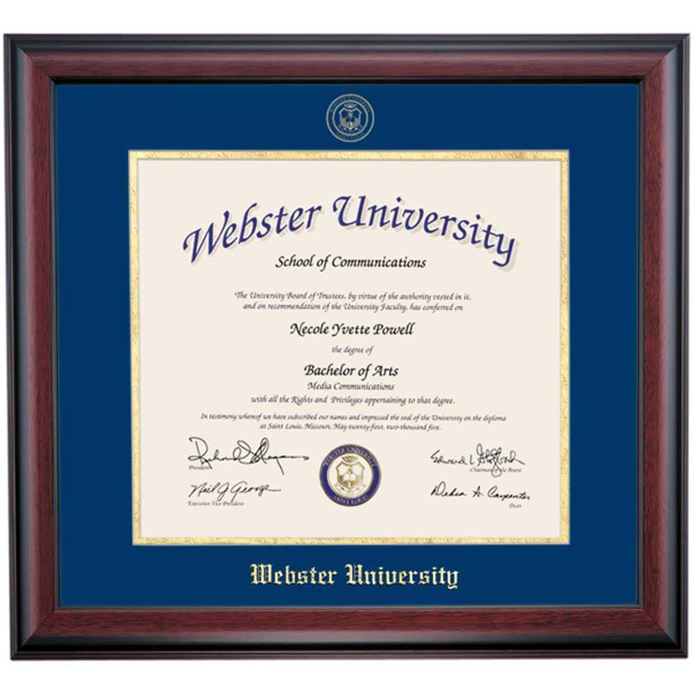 Webster School Color Traditional Diploma Frame   Frames   Pinterest
