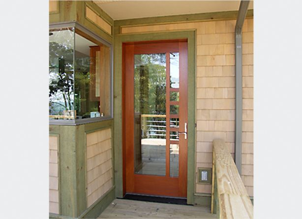 Frank Lloyd Wright Entry Doors | Frank Lloyd Wright style side door with custom lights ( : franks doors - pezcame.com