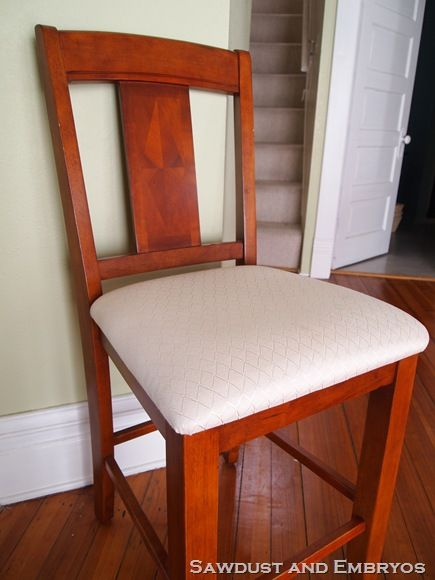 How To Upholster A Dining Room Chair Fair Tutorial How To Reupholster A Chair With Plastic  Secret House Design Decoration