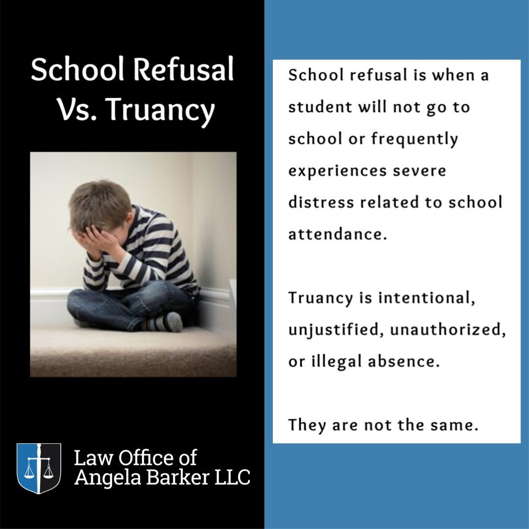 School Refusal and Truancy are not the same! in 2020