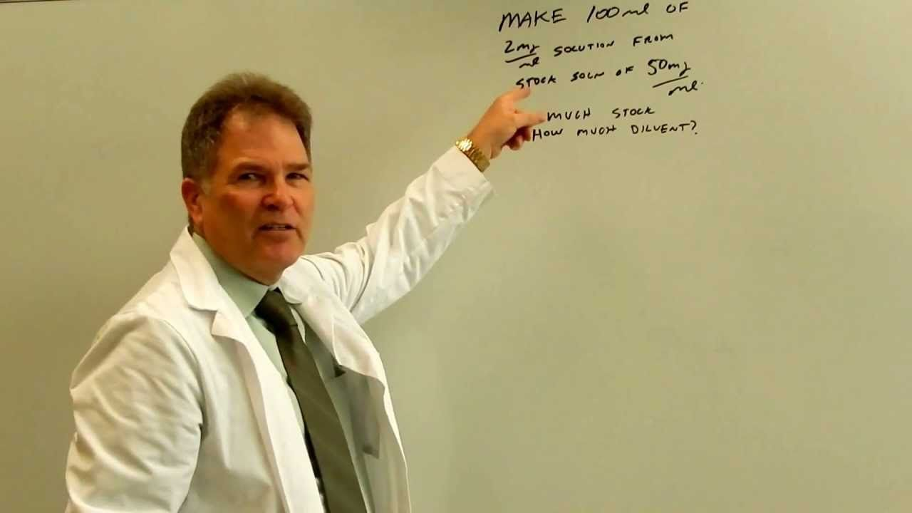 Pharmacy Calculations For Technicians Concentrations And