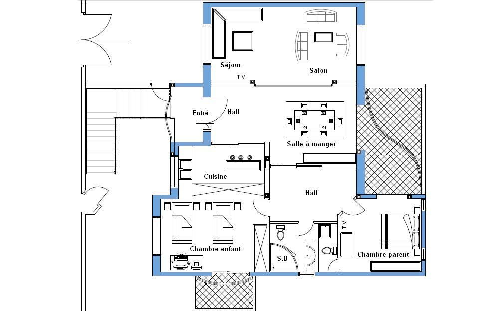 Plan Maison 150m2 Gratuit Tunisie Plan Maison Plan Architecture