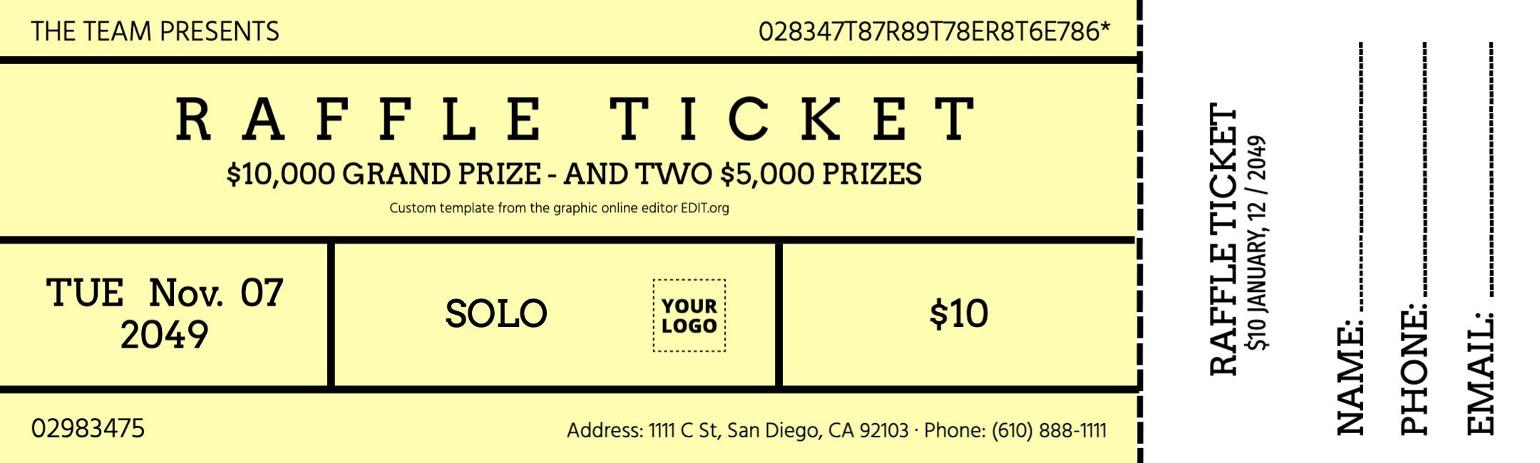 Raffle Ticket To Customize Online Raffle Tickets Raffle Tickets Template Raffle Tickets Printable Two part raffle tickets template