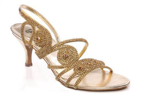 9ec6ff80c Unze L23454 Womens Ladies Evening Party Wedding Unique Embellished Design  Low Heel Sandals - L23454-