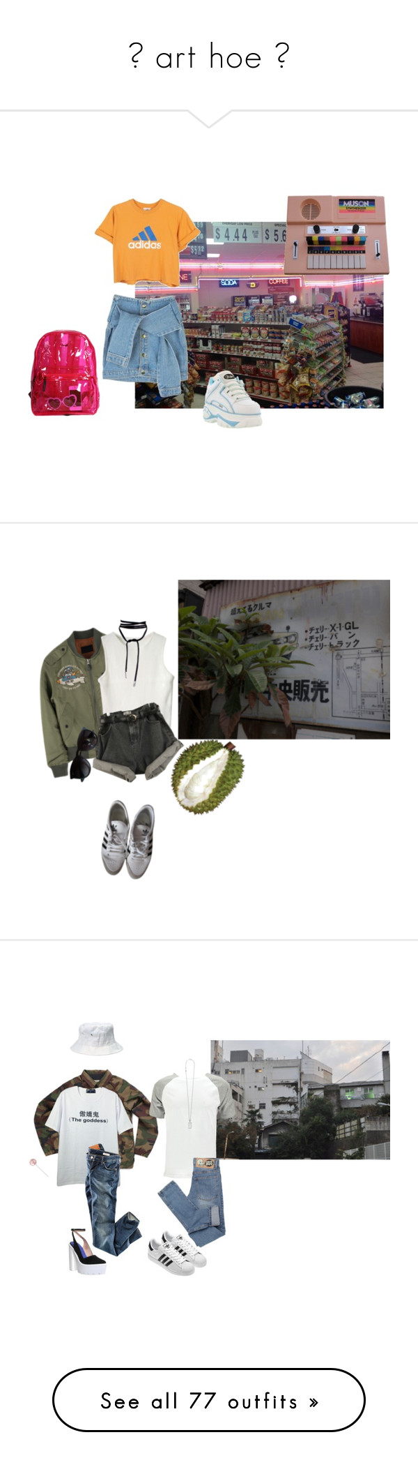 """"""" art hoe """" by ramennyun ❤ liked on Polyvore featuring adidas, vintage, H&M, FRUIT, Ray-Ban, Vans, Boohoo, Yves Saint Laurent, Jeffrey Campbell and Cheap Monday"""
