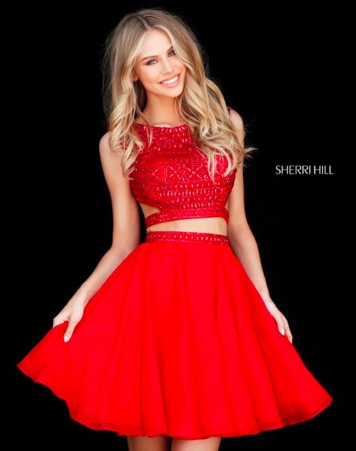 0c36a7826da Sherri Hill 51295 Short Red Two-piece Homecoming Ypsilon Dresses Utah  Sweethearts