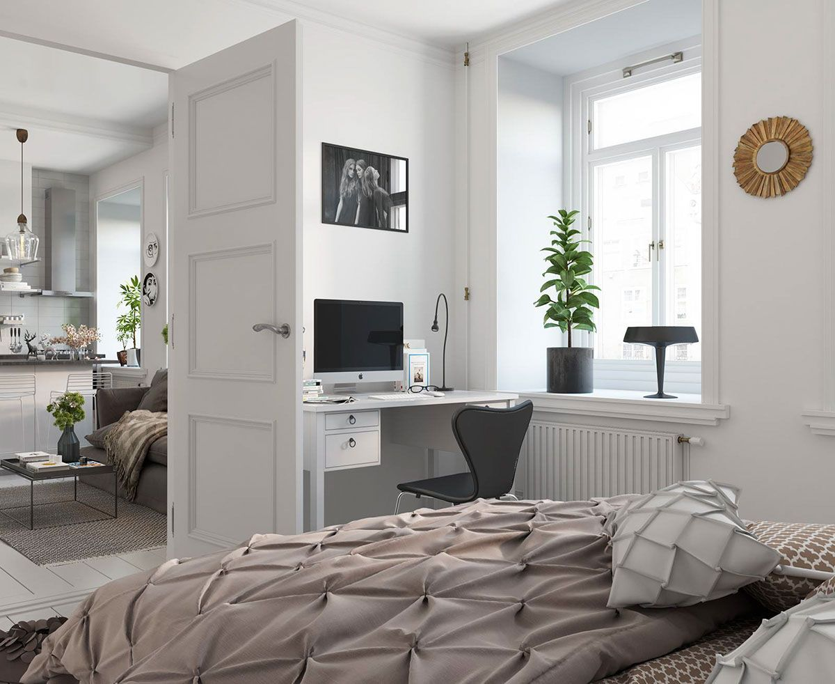 Bright Scandinavian Decor In 3 Small OneBedroom