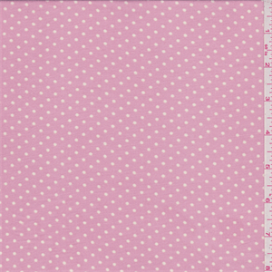 Carnation Pink Dot Challis - 30531 - Fabric By The Yard At Discount Prices
