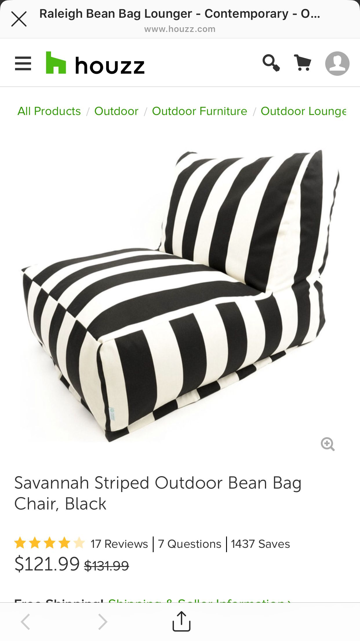 Pin by JB Brown on Decor Outdoor bean bag chair, Bean